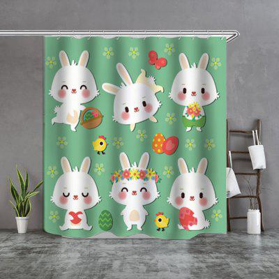 six rabbits fine shower curtain