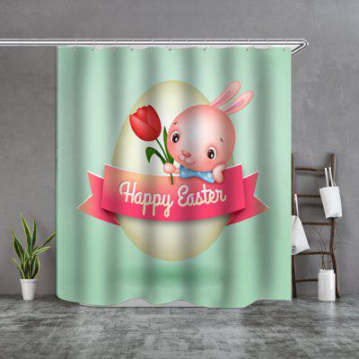 bunny waterproof boutique shower curtain
