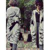 Female Long-haired Embroidered Loose Bat Sleeve Cardigan - GRAY CLOUD