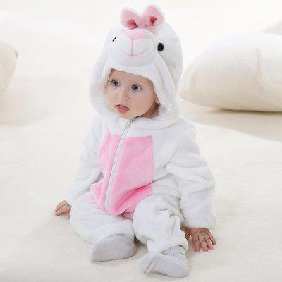 Baby Clothes Spring And Autumn Flannel Animal Shape Romper