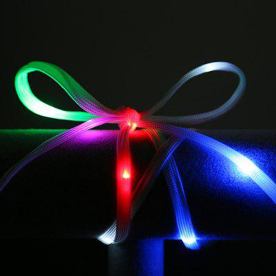 Utorch 1.2M 20 LED Glowing Shoelaces for Home Party Decoration