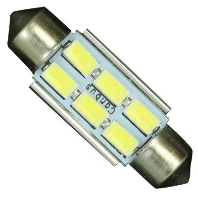 10PCS  Festoon Bulb 36mm 6 SMD 5630 LED C5W C10W Interior Light White Car Boat 12v