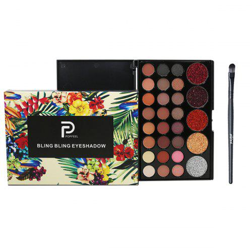 29 Color Eyeshadow Pearl Matte Eyeshadow Multi-color Makeup Single Eye Shadow With Brush Makeup Set
