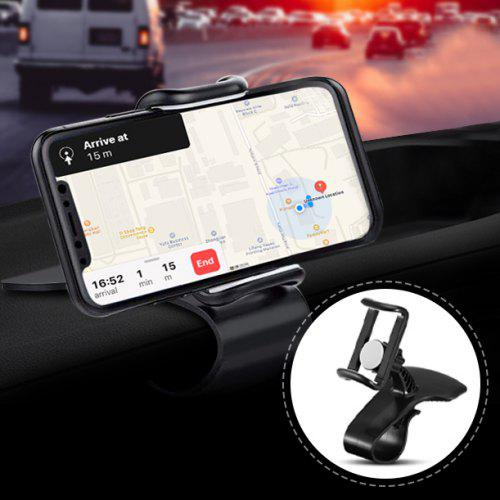 360-Degree Rotation Car Phone Holder – Black 280854701 Multi-Function Rotating Dashboard Clip Mount Stand