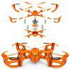 Assembling Toy Remote Control Aircraft Children Educational Assembly DIY Hands-on Four-axis Navigation Model Drone - ORANGE