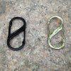 Outdoor EDC Equipment Zinc Alloy Carabiner - BLACK