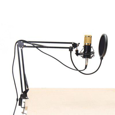 BM800 Condenser Dynamic System Kit Shock Mount Boom Stand Studio Microphone
