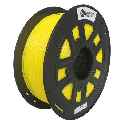 CCTREE  3D Printer TPU 1.75MM Flexible  Filament Yellow for Creality  Anet