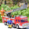 Children Toy Large Electric Water Spray 119 Fire Truck - RED