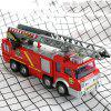Children Electric Sprinkler Fire Truck Universal Light Music Model Toy - RED
