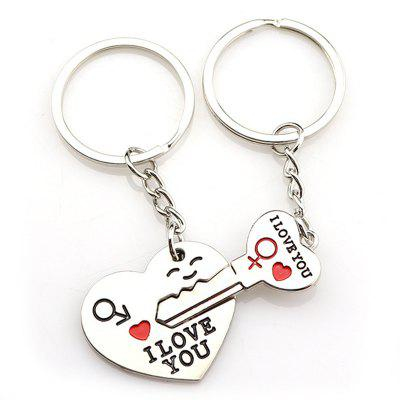 Creative Wedding Gift Smile Love Metal Keychain