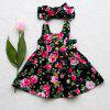 Summer Girl Floral Sling Dress with Bow Tie Hair Band - MULTI