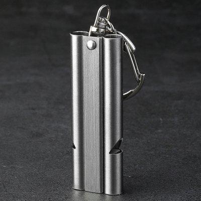 EDC Outdoor Survival Stainless Steel Double Tube High Frequency Whistle