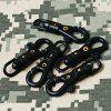 Tactical Outdoor Equipment Rotating Mini Hook Buckle - CZARNY