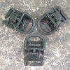 Three-color 25mm Outdoor Army Fan Backpack Accessories Rotatable D-type Buckle - CAMOUFLAGE GREEN