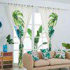 European Living Room Plant Printing Curtain - WARM WHITE