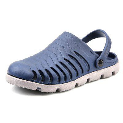 Fashion Men's Large Size Dual Purpose Slippers Concise Breathable Design