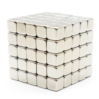 125pcs 5mm DIY Block Bead Magnetic Balls Magic Cube Magnets Puzzle Toy Gift
