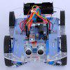 Infrared Ultrasonic Obstacle Avoidance Remote Intelligent DIY Puzzle Racing Car - BLUE
