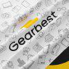 Gearbest 5th Anniversary Customized Shopping Gift Bag - WHITE