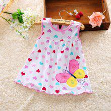 0 - 12 Month Baby Female Treasure Cotton Embroidered Princess Dress