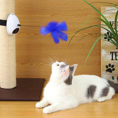 Mouse Double Effect Electric Cat Toy Feather Rotating Laser Pet Toy
