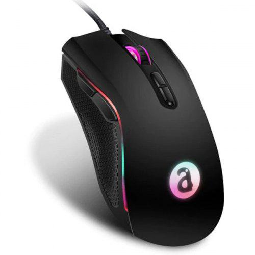 Gearbest Alfawise WM05 RGB Ergonomic Gaming Mouse - Black