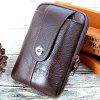Multi-function Leather Mobile Phone Pocket 5.5 inch - COFFEE