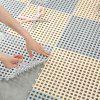 Bathroom Waterproof Hollow Floor Mat - LIGHT BLUE