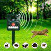 Multi-function Solar Bird Repeller Ultrasonic Dog Scarer Infrared Light Flashing Animal Expeller - GREENISH BLUE
