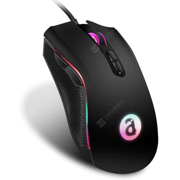 Alfawise WM05 RGB Ergonomic Gaming Mouse - Black