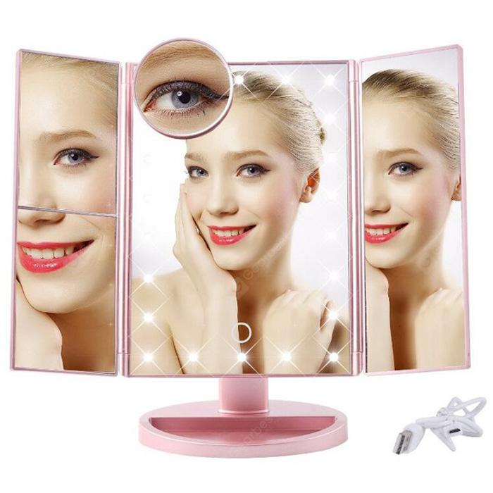 LED Touch Screen Foldable Mirror