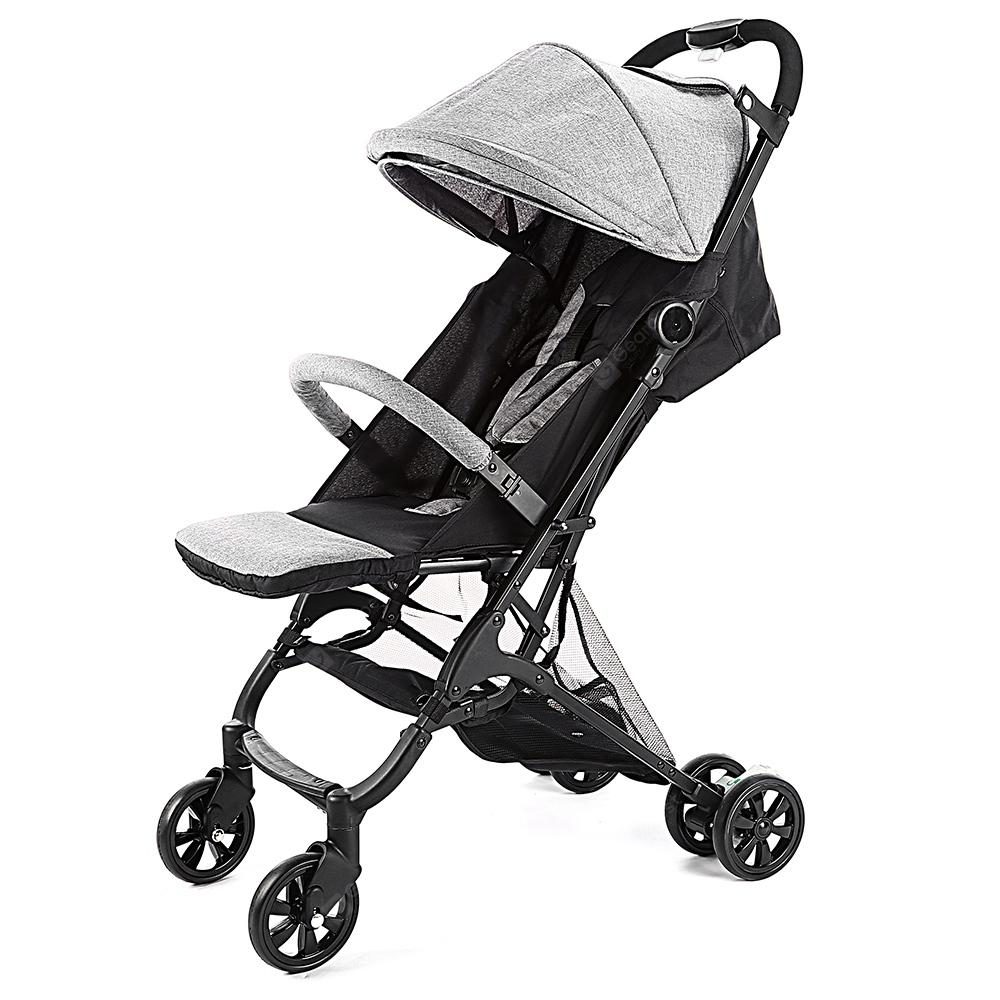Alfawise A10 One Key Folding Baby Stroller Carrier - Gray