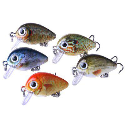 5 Boxed 2.7CM Lure Rock Chubby Bait