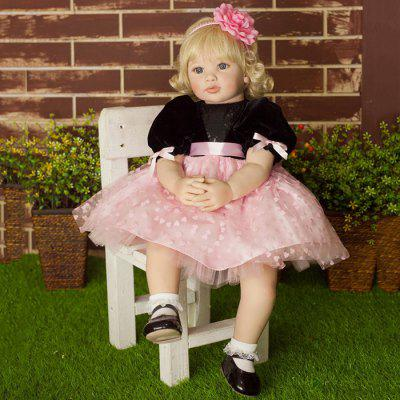 NPK COLLECTION High-end Vinyl Silicone Reborn Baby Doll Toy Newborn Princess Doll Birthday Holiday Gift Bedtime Playmates