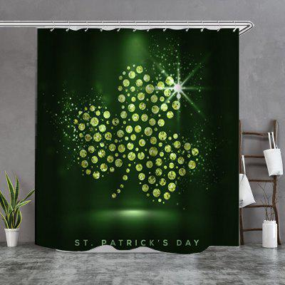 Gold Coin Clover Shape Shower Curtain