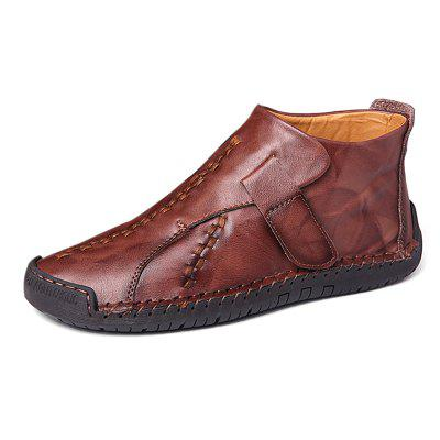 Sapatos Masculinos Oxford de Costura Casual Antiderrapante