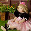 NPK COLLECTION High-end Vinyl Silicone Reborn Baby Doll Toy Newborn Princess Doll Birthday Holiday Gift Bedtime Playmates - JET BLACK