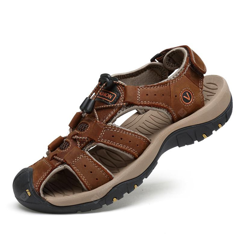 Men Fashion Outdoor Slip Sandals - Brown EU 48