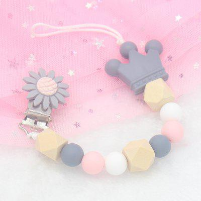 Baby Cute Silicone Pacifier Chain Clip