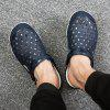 Summer Men Jelly Shoes Hollow out Sandals Slippers - MARBLE BLUE