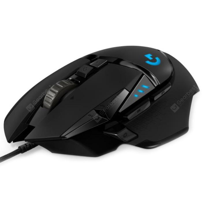 Logitech G502 HERO 16K Engine Mouse 16000DPI RGB Backlight 11 Programmable Buttons - Black