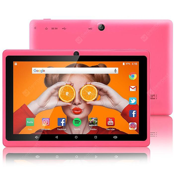 Children zonko x77 tablet 7.0 inch Android 7.1 RK3126C four rear-core 1.3GHz 1GB RAM 8GB RAM 2.0MP camera OTA 2500mAh Built-in