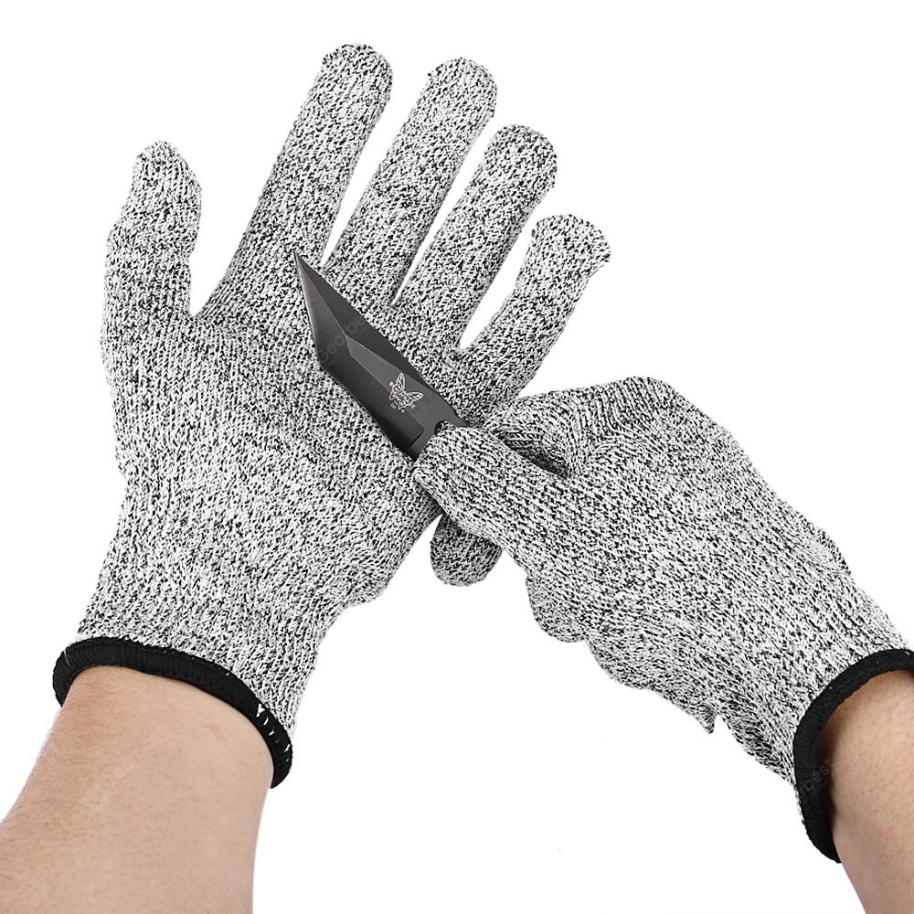 Gocomma Protective Cut-proof Gloves HPPE Material - Light Gray M