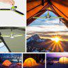 Outdoor Solar Charging Camping LED Hanging Camping Light - CHARTREUSE