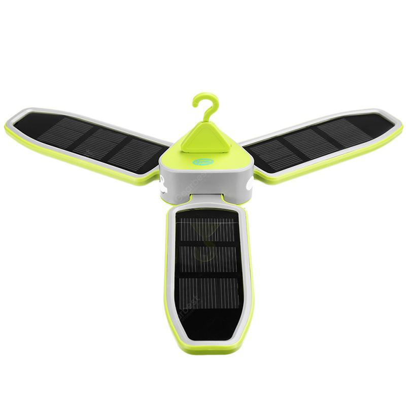 Outdoor Camping Light Solar Charging Camping Light Super Bright LED Clover Hanging Camping Light - CHARTREUSE
