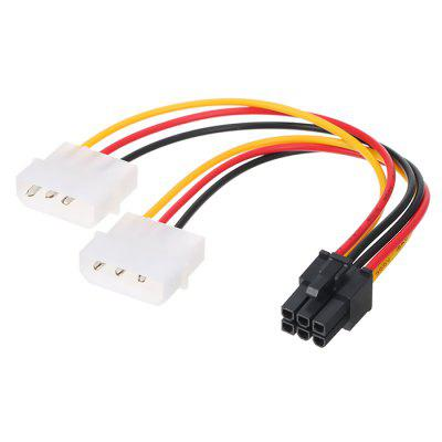 6 Pin / Double 4 Pin Computer Graphics Card Power Conversion Line