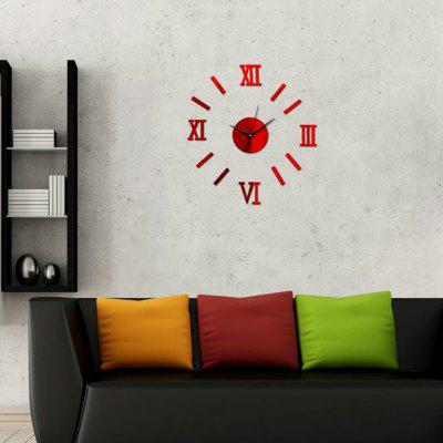 3D DIY Mirror Wall Clock Home Decoration