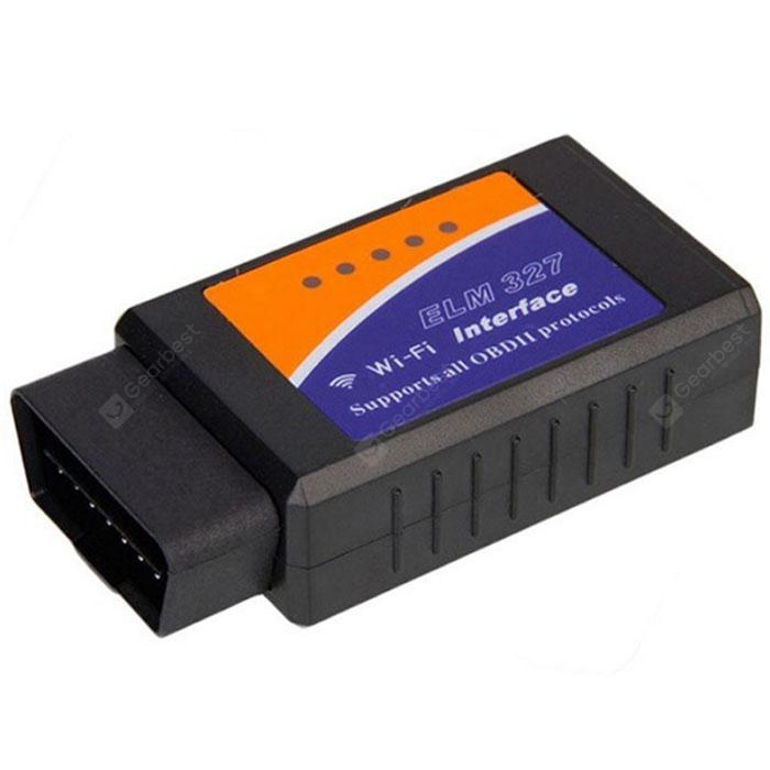 Car WiFi OBDII Engine Diagnostic Scanner -  Black