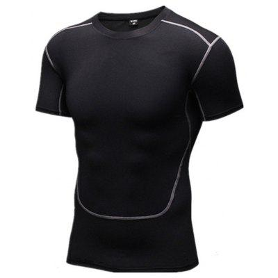 Sports Short-sleeved Men's Stretch Quick-drying T-shirt Tights Basketball Football Bottoming Training Running Fitness Clothes